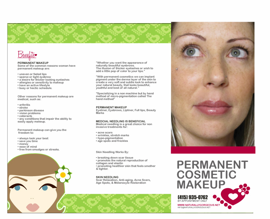 permanent makeup permanent make-up eyebrows | Naturally Gorgeous